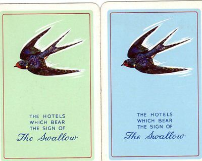 """Pair of RARE VINTAGE """"Vaux (Swallow) British Brewery"""" SINGLE Playing Cards"""