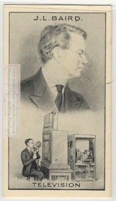 Television Invention John Logie Baird Color Tube 90+ Y/O Trade Ad Card