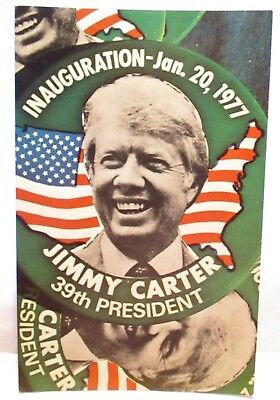 1977 Coral-Lee Co Postcard Jimmy Carter 39Th President Inauguration  1-20-1977