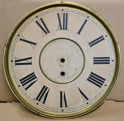 """Antique Waterbury 8 Day Time Only Wall Regulator Clock Dial 11 5/8"""""""
