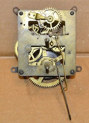 """Antique Waterbury 8 Day Time Only Wall Regulator Clock Movement 16"""" Drop"""
