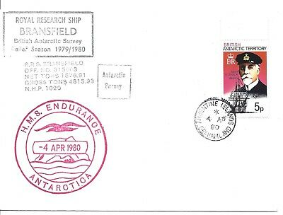 Bat 1980 Antarctic Argentine Islands R.r.s. Bransfield H.m.s. Endurance Cover
