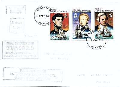 Bat 1981 Antarctic Argentine Islands R.r.s. Bransfield Last Day Cover.