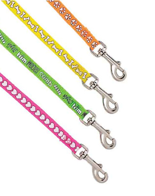Dog Grooming Loops Bright Neon Screen Print Groomers Restraint 4 Pack 18 Inches