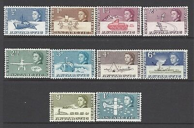 British Antarctic Territory 1963 Definitive Short Set Of 10 To 1/- Sg 1-10. Mm