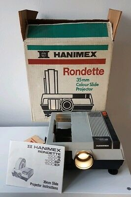 Hanimex Rondette 35mm Colour Slide Projector Original Box Working Condition