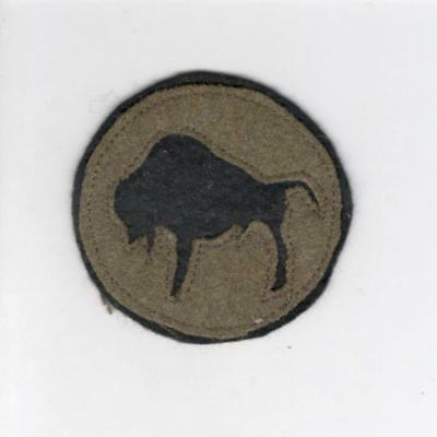 """WW 1 US Army 92nd Division 2-1/2"""" Patch Inv# C148"""