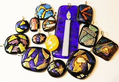 Vintage In Seattle Lot# 127 great lot of mixed art glass pendants charms