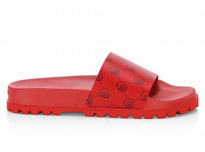 44e9196f3 Authentic GUCCI GHOST mens Pursuit Treck Slides leather/rubber RED G 12 US  13