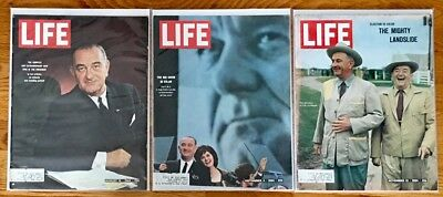 LIFE Magazine LYNDON B. JOHNSON LBJ 1964 Lot of 3 Issues; Election, Humphrey