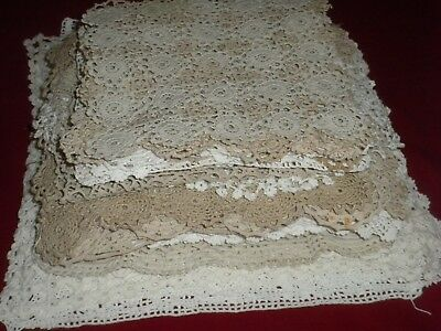 VINTAGE HANDMADE LOT OF 50 pcs CROCHET LACE  Doilies