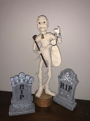 HaLLoWeeN Artist HandMade Limited Edition MUMMY by Lindy Evans Fall Harvest Boo