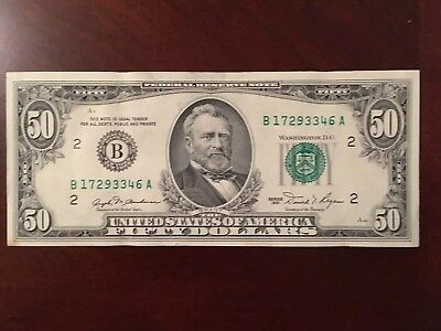 Crisp $50 Dollar Bill From 1981