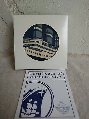HOLLAND- AMERICA Cruise Line Coaster- with Cert of Authenticity/ Collectible