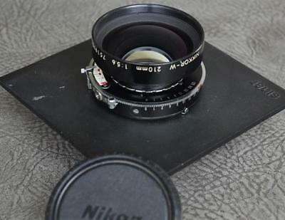 Nikon Nikkor-W 210mm 1:5.6 Lens in Copal Press No. 1 Shutter [BB]