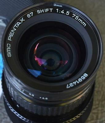 SMC Pentax 67 Shift 75mm 1:4.5 Lens w/ Case [BB]