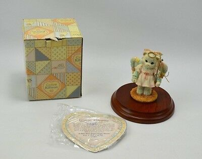 """Vtg 1993 Enesco Calico Kittens """" A Purr-fect Angel From Above"""" Nativity Figurine"""