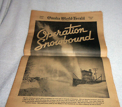February 1949 Omaha World Herald Special Section OPERATION SNOWBOUND