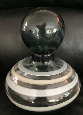 VINTAGE GENIE BOTTLE or DECANTER HEAVY SOLID GLASS in EXC