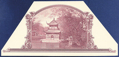 AMERICAN BANK NOTE Co. ENGRAVING: PAGODA SCENE