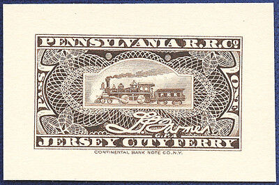 AMERICAN BANK NOTE Co. ENGRAVING: PA RRCO JERSEY FERRY