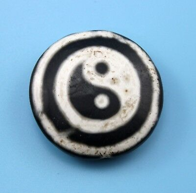 38*12 mm Antique Dzi Agate old Bead from Tibet **Free shipping**