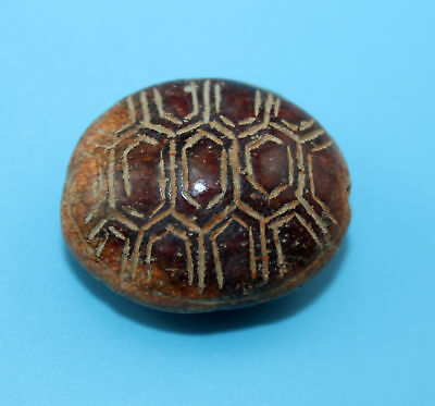 29*15mm Antique Dzi Agate old Bead from Tibet **Free shipping**