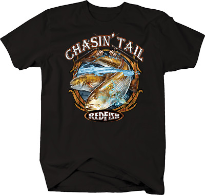 2f80ff9192b6e Chasin  Tail Redfish Ocean Sea Salt Water Rod Reel Fly Fishing T-shirt