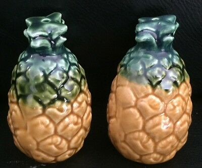 Vintage Retro Ceramic Pineapples Salt & Pepper Exc