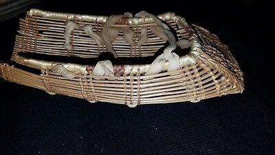 Antique Woven Doll Cradleboard Native American Indian