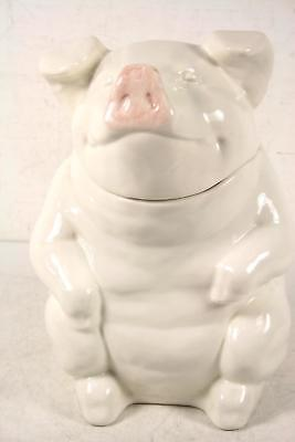 Hand Crafted Ceramic Decorative Home Decor Large Lidded Top Pig Cookie Jar