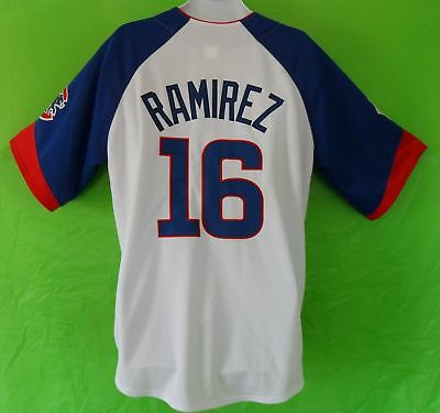 RARE~Majestic CHICAGO CUBS RAMIREZ MLB Baseball Jersey shirt top~Mens sz XL