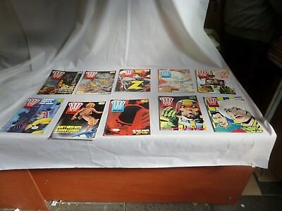 Job Lot Off 10 Early  2000 Ad Featuring Judge Dredd Comics 555 To 597
