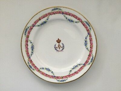 QUEEN ALEXANDRA 's PORCELAIN PLATE FROM HER SERVICE.