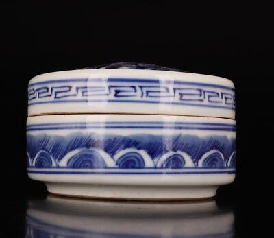 Tang Dynasty Rare Chinese Porcelain Jewelry Box Seal Box Hand-Painted Landscape