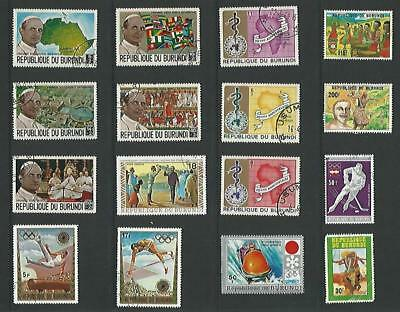 y5605  Burundi / A Small Collection Early & Modern Used