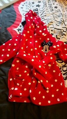 Minnie Mouse Dressing Gown 6-9 Months
