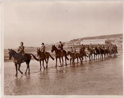 Weston Super Mare Sands Riders School Ecole equitation bord de mer Photo 1933