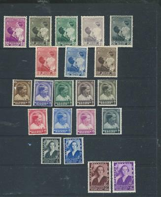 Belgium-lot 1 1936-37 selection of mint stamps, (UHM or LHM) CV £60+ [1041]