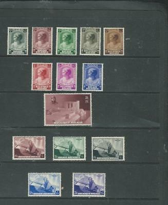 Belgium-lot 2 1937-8 selection of mint stamps, (UHM or LHM) CV £40+ [1042]