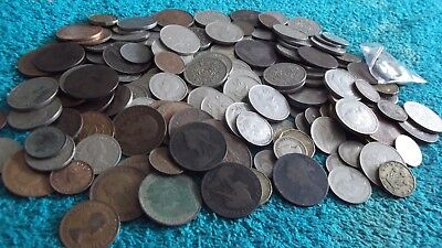 BULK/JOB LOT OF OVER 1270 GRAMS OF OLD BRITISH COINS FREE POSTAGE 99p  J 14 Q