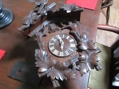 wooden plate blackforest cuckoo clock