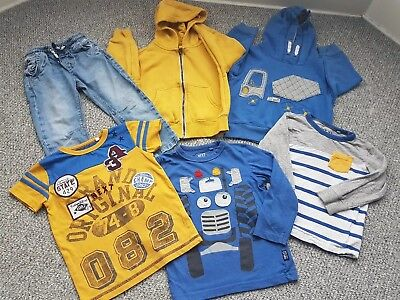 Boys Next Blue Yellow Mix Match Bundle 2-3 Years