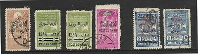 Syria - 1945 Postal Fiscals/Obligatory Tax stamps used  Cat £60 (See desc)
