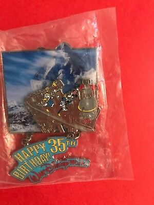 Disney WDW Cast Exclusive 35th Birthday Fab 4 Expedition Everest LE Dangle Pin