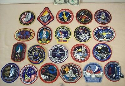 1994 to 1996 SPACE SHUTTLE MISSIONS~21 EMPLOYEE ISSUED PATCHES~STS-60 to STS-80~