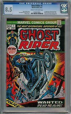 Ghost Rider #1 First 1St Print 1973 Cgc 8.5 Marvel Comics Agents Of Shield