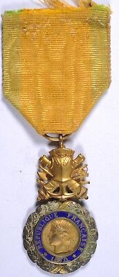 French WWI WW1 World War One military medal Medaille Militaire silver gilt VGC
