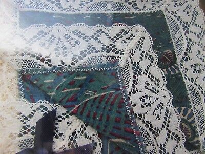 Liberty Vintage Cotton & Lace Handkerchief In Box