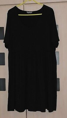 Marks & Spencer Black Jersey Tunic Dress Size  22. Good Condition